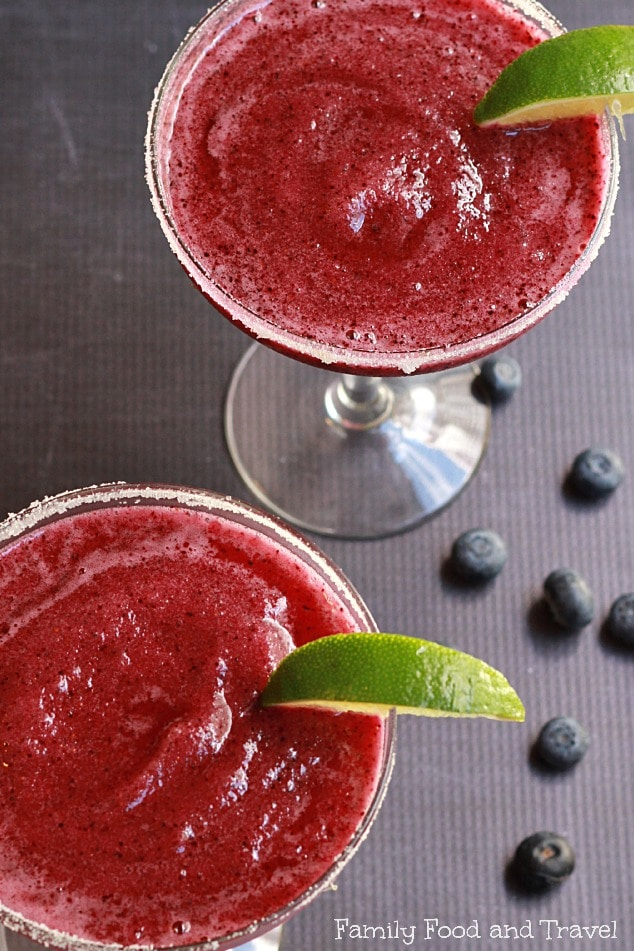 Blueberry Passionfruit Margarita top view