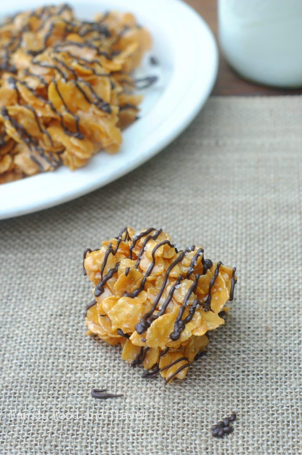 Caramel Cornflake No Bakes
