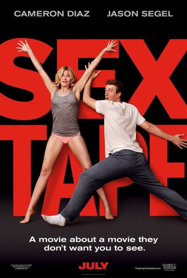 Cameron Diaz and Jason Segel in Sex Tape #BedroomSpice