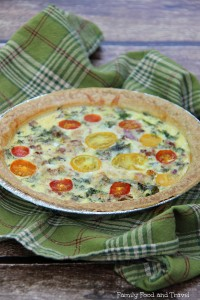 bacon kale tomato quiche