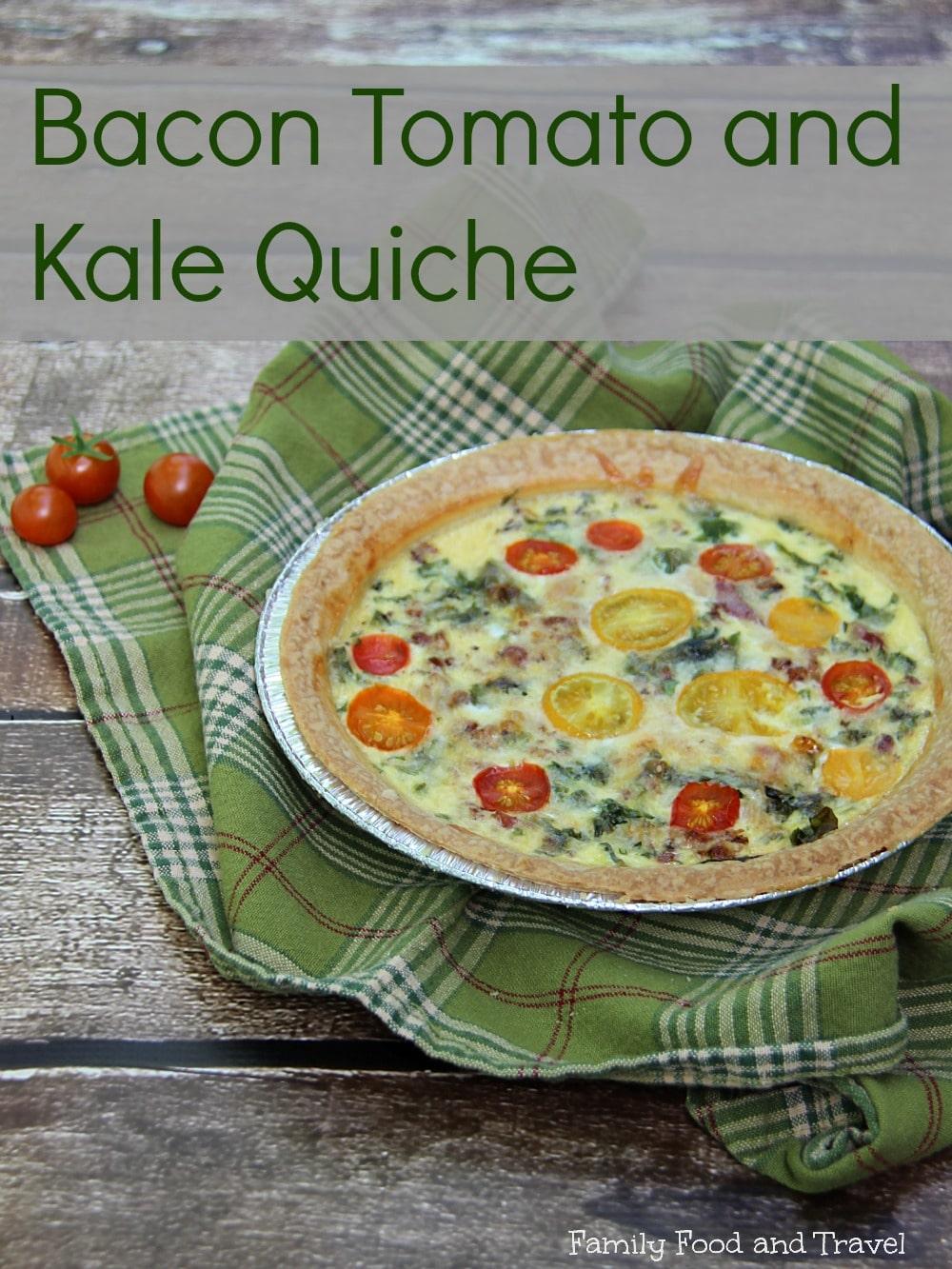 bacon tomato and kale quiche