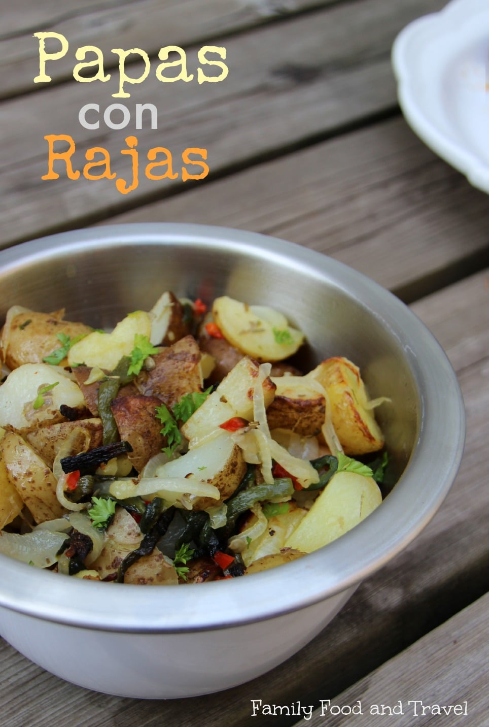 papas con rajas roasted potatoes in poblano peppers