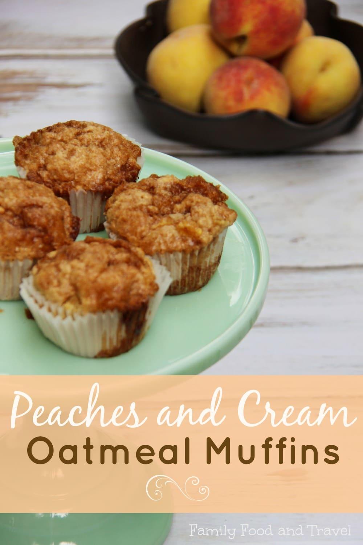Peaches and Cream Oatmeal Muffins 2