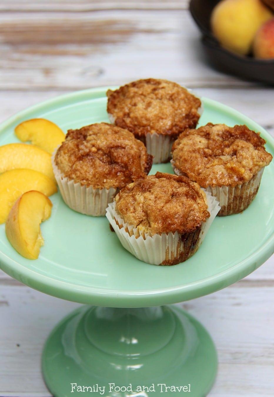 Peaches and Cream Oatmeal Muffins