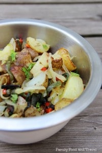 roasted potatoes with poblano peppers