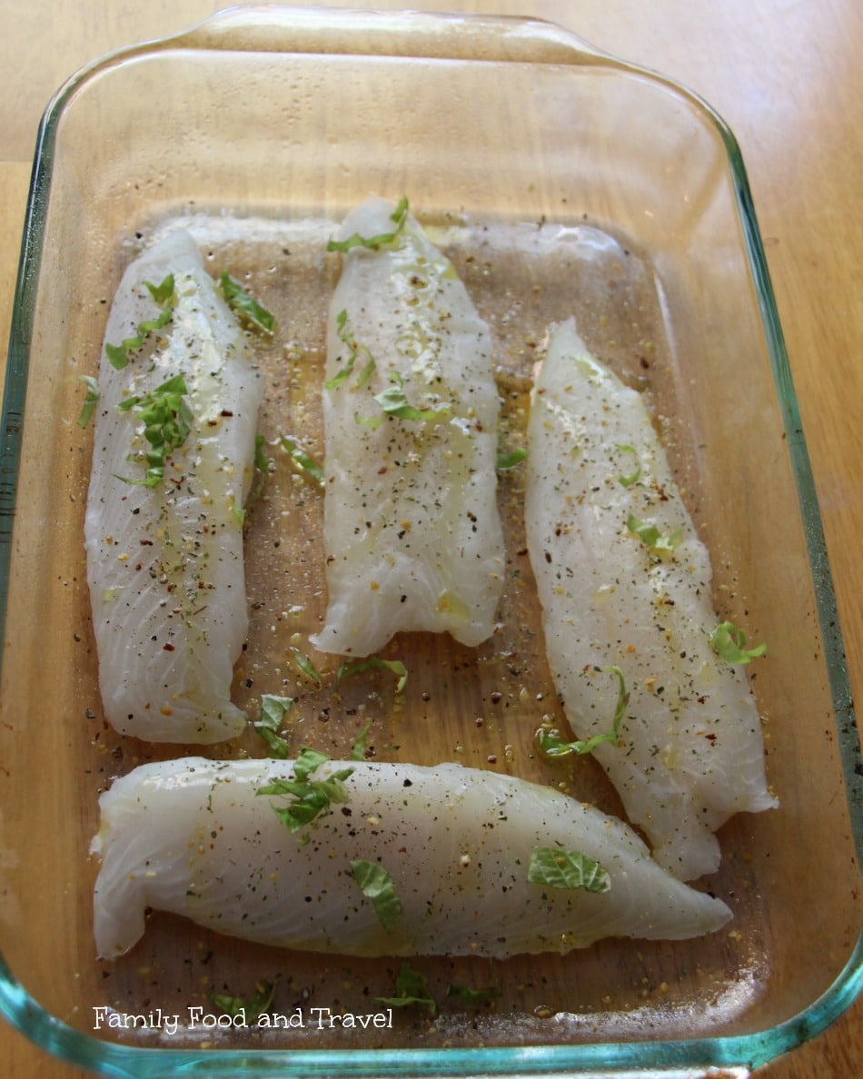 Tomato Baked Tilapia with Lemon prep1