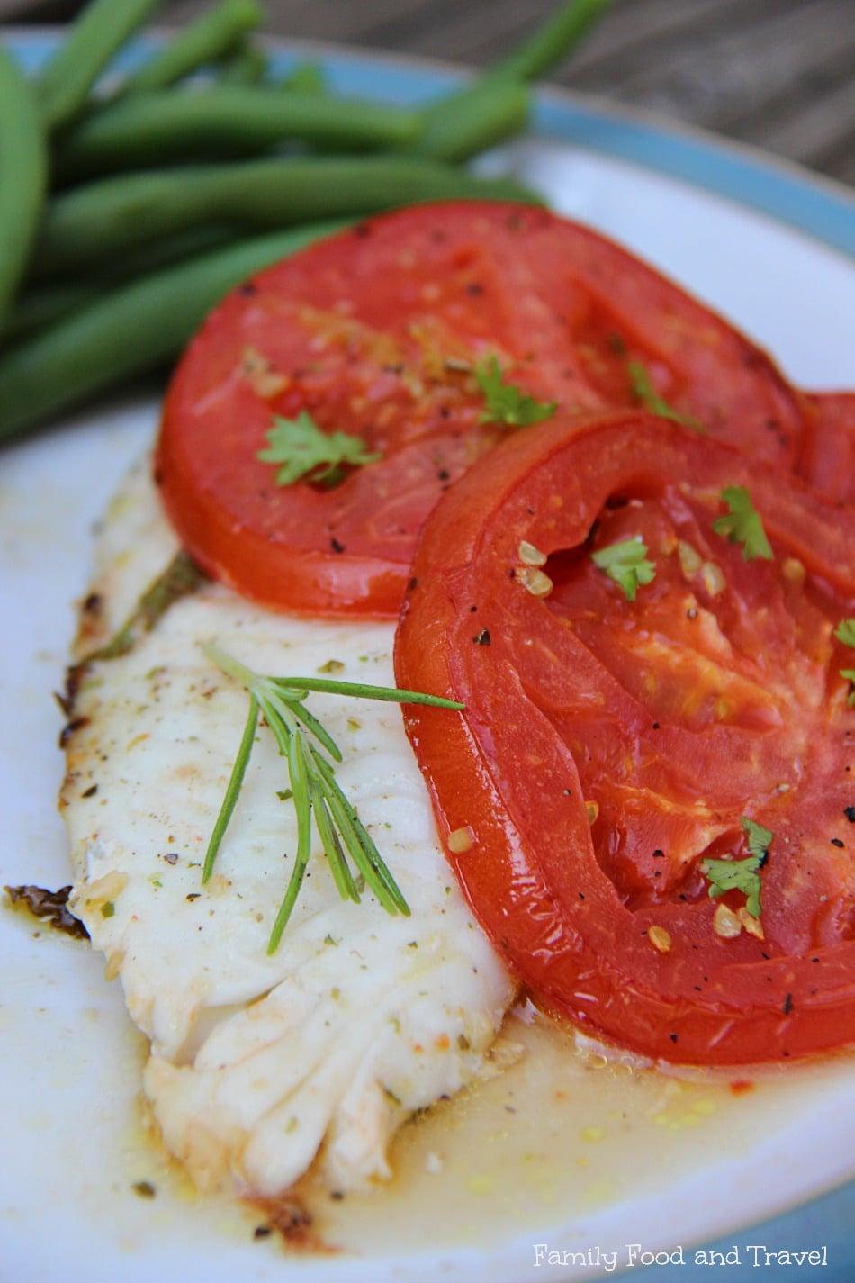 Tomato Baked Tilapia with Lemon