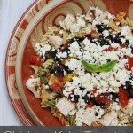 Chicken, Kale, Tomato and Feta Pasta