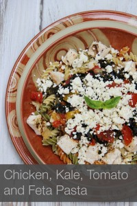 chicken kale tomato and feta pasta