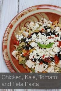 chicken kale tomato and feta pasta