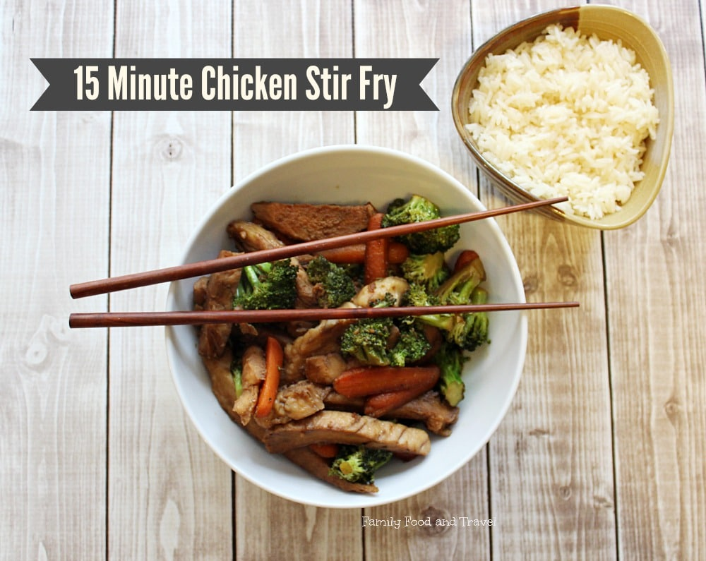 15 minute chicken stir fry