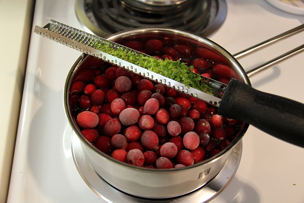 Cranberry Sauce with lime