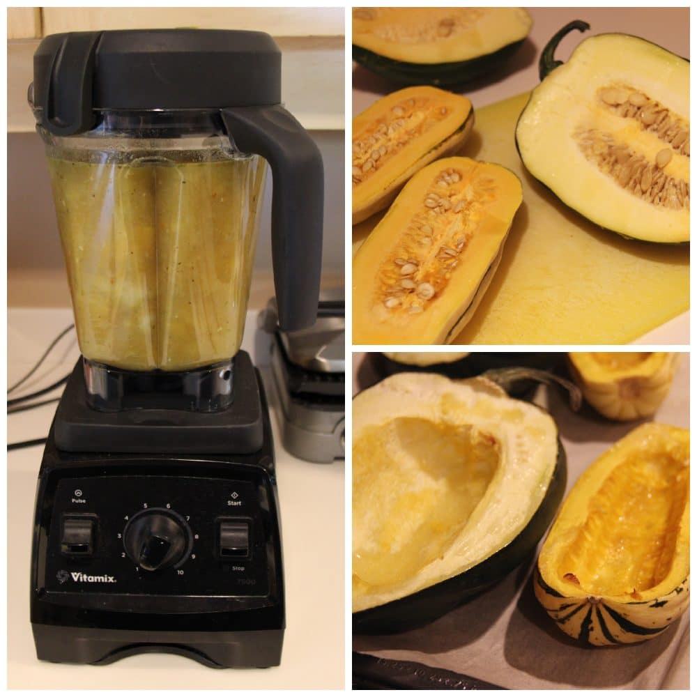 squash and apple soup process