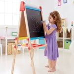 Art Easel with Chalkboard and Whiteboard