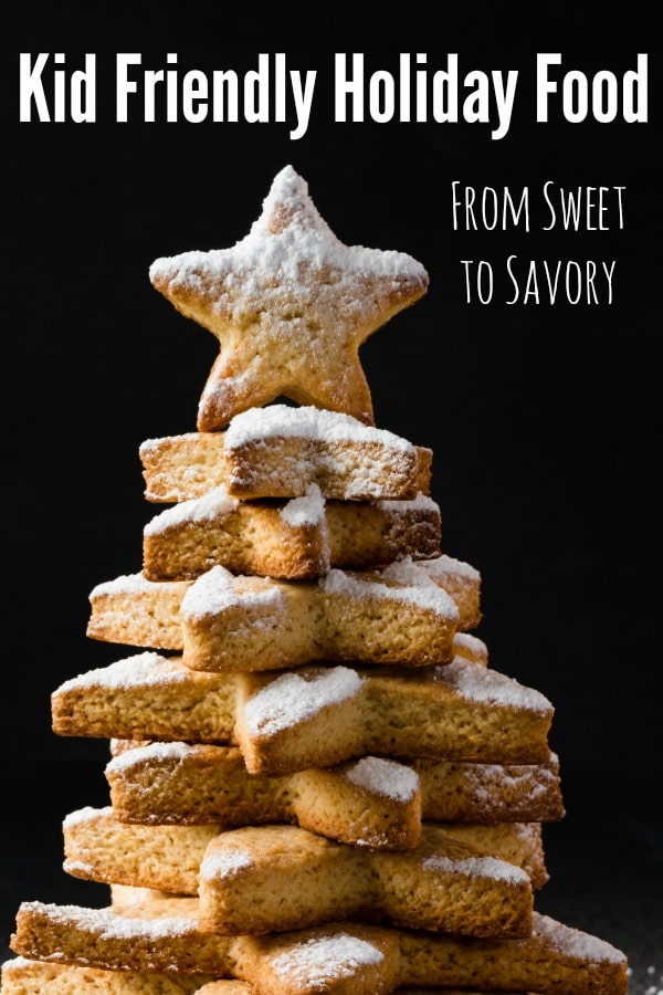 Gingerbread Stars in a Tower with Icing Sugar