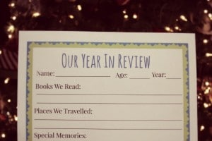 Printable Year In Review