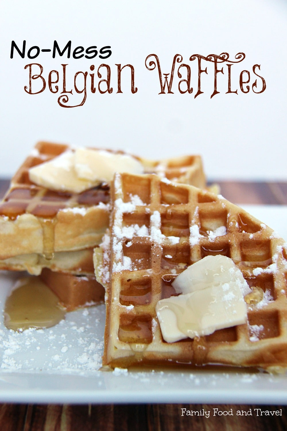 Perfect Belgian Waffles with Breville No Mess Waffle