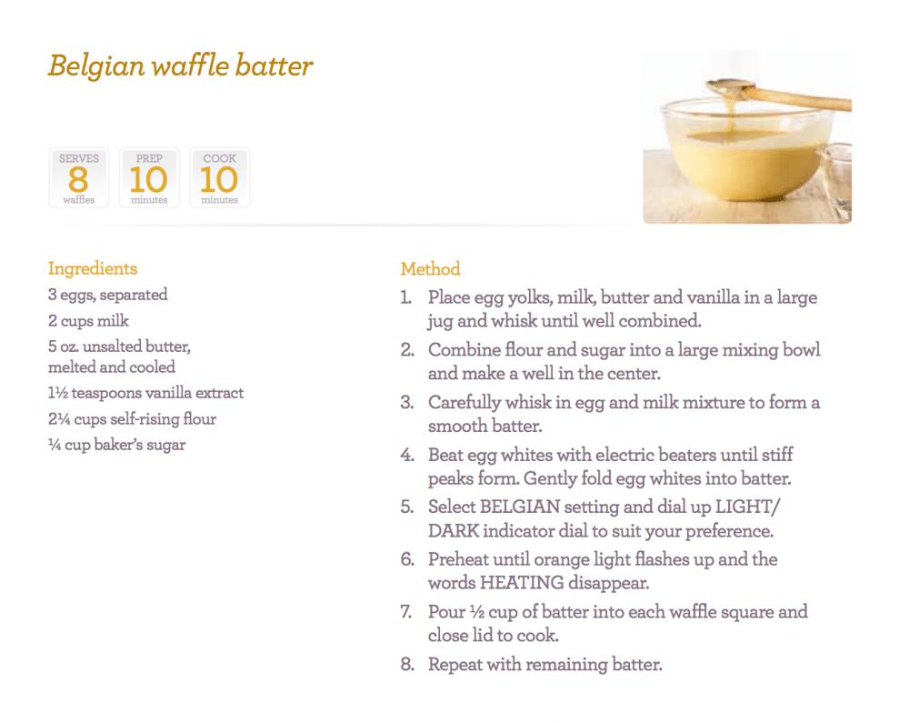 perfect belgian waffles recipe