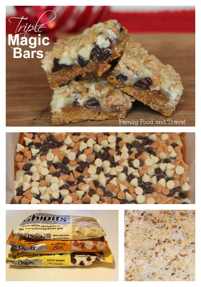 Triple magic bars recipe