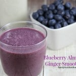 Blueberry Almond Ginger Smoothie