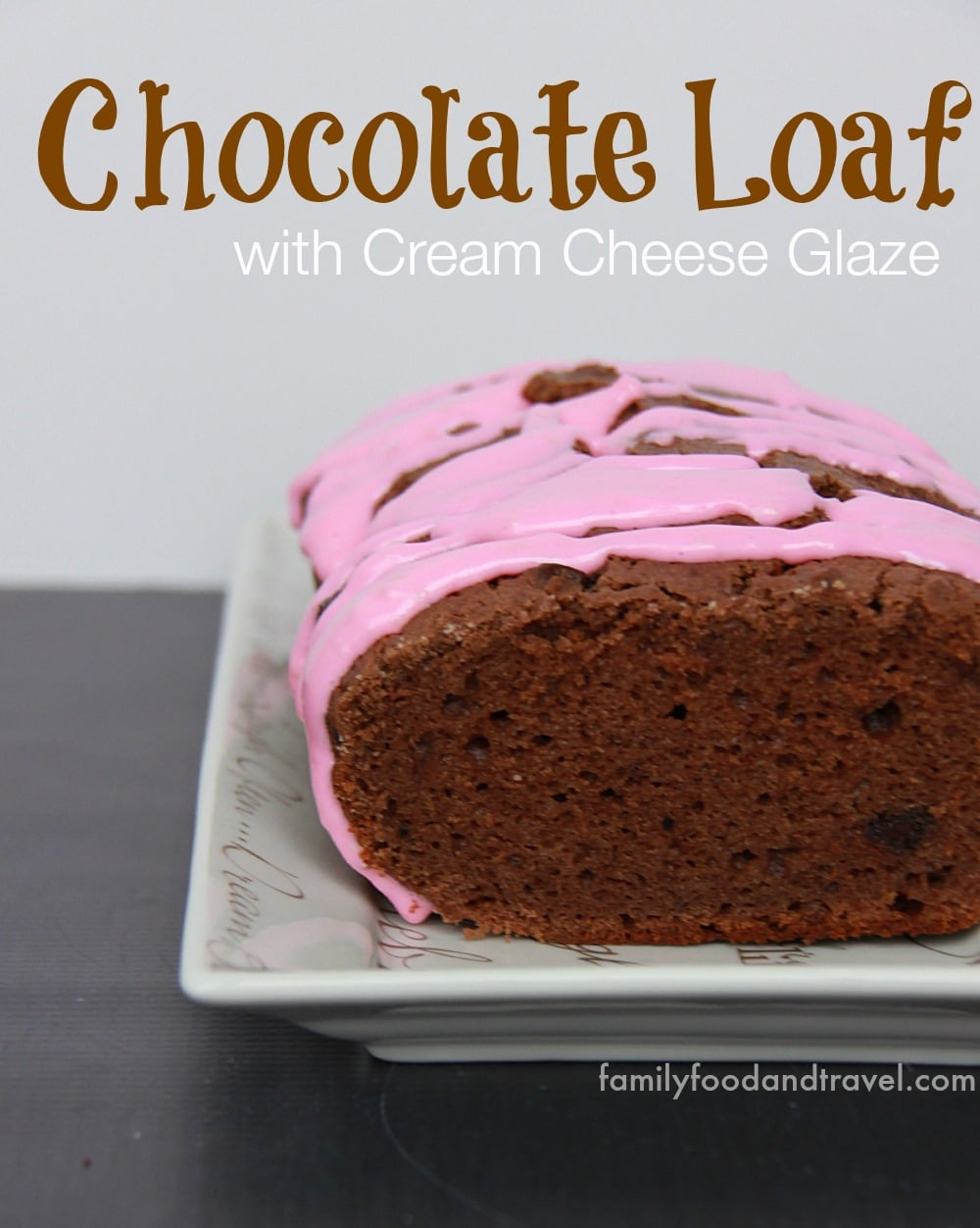 Chocolate Loaf with Cream Cheese Glaze 2