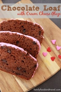 Chocolate Loaf with Cream Cheese Glaze