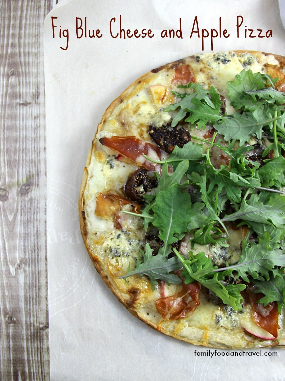Fig Blue Cheese and Apple Pizza 1