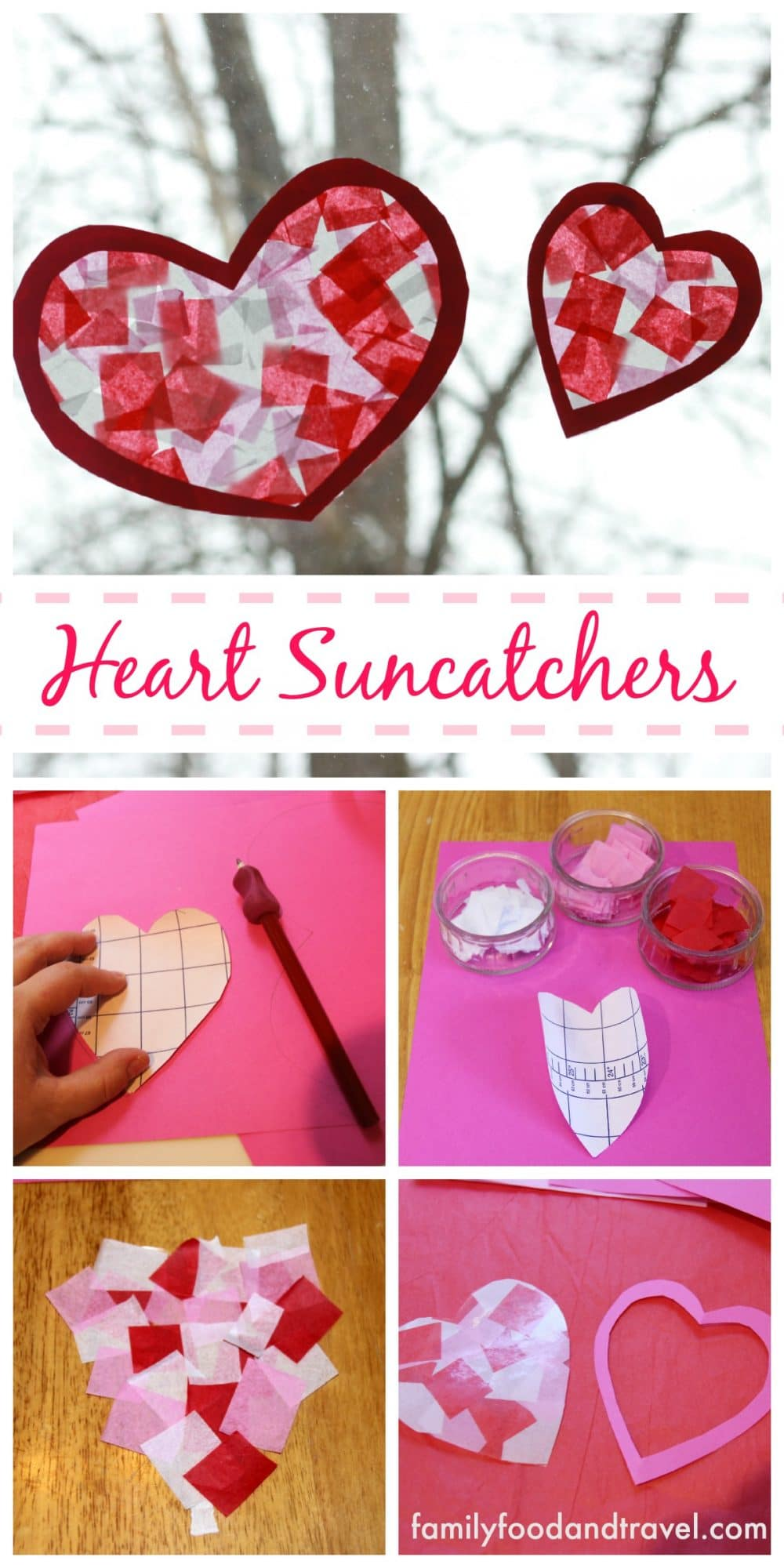 heart suncatchers craft
