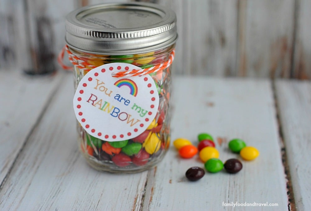 Skittles Rainbow Jar with Printable