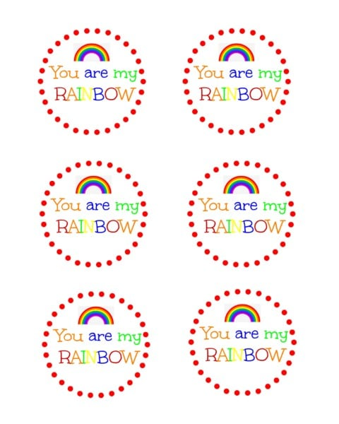 You Are My Rainbow printable
