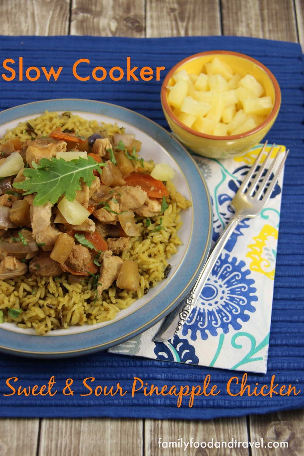 slow cooker sweet & sour pineapple chicken