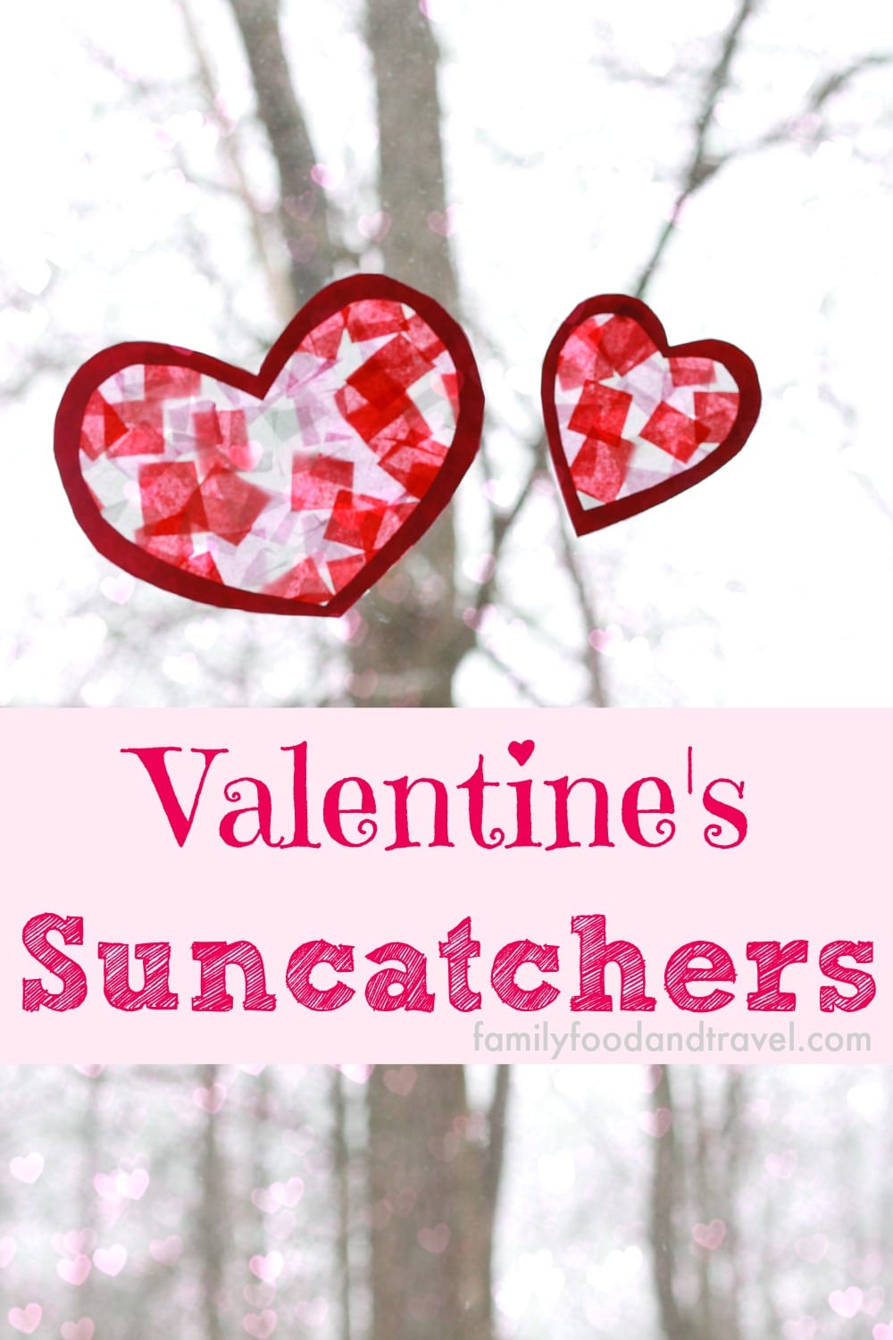 Easy to Make Heart Suncatchers
