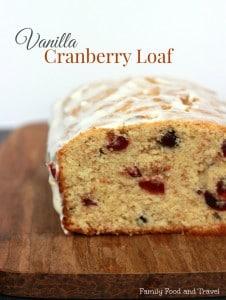 vanilla cranberry loaf