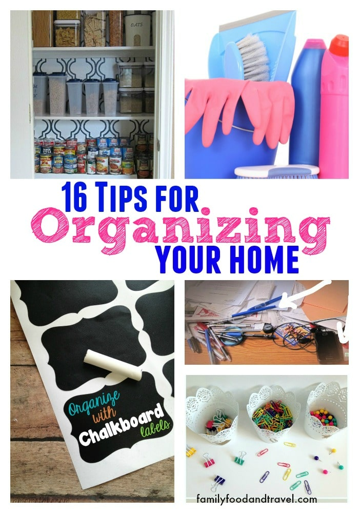 16 tips for organizing your home