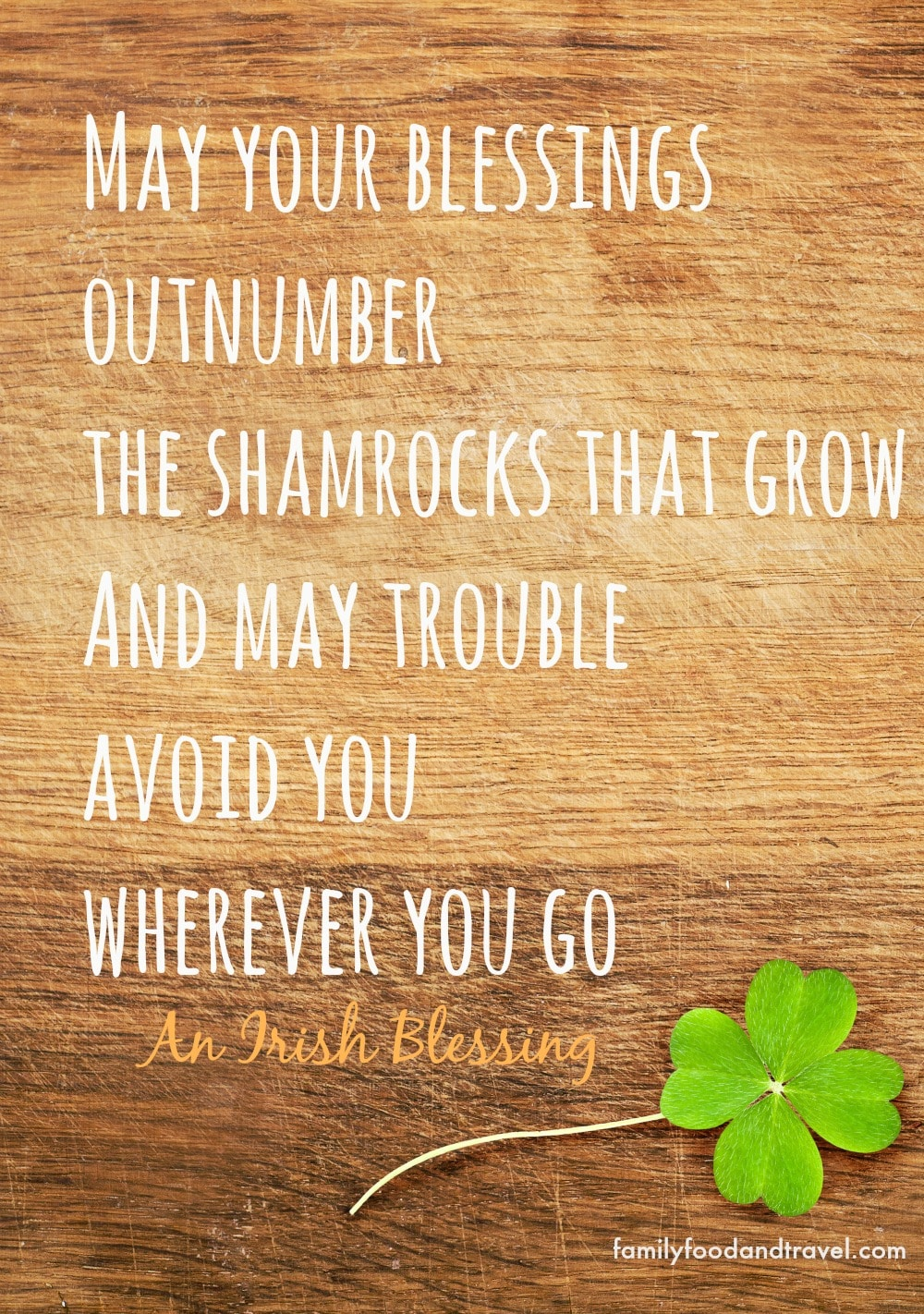 An Irish Blessing for St Patricks Day