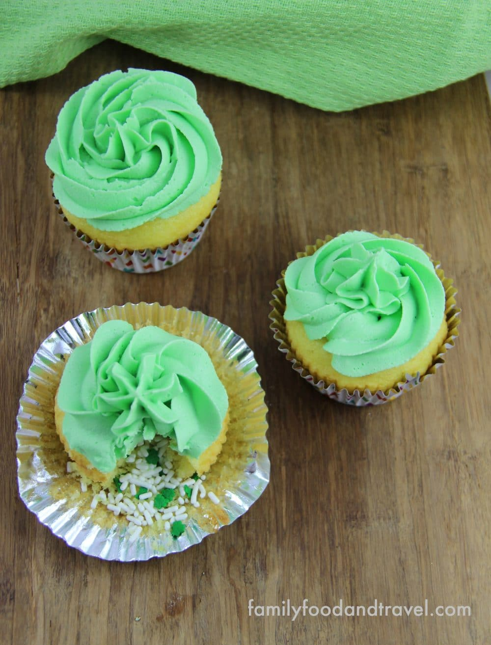 Leprechaun's Treasure Cupcakes