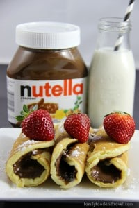 Nutella Pancake Rollups - the perfect way to change your pancakes and take them to the next level. Easy to make and delicious to eat.