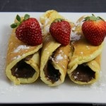 Nutella Pancake Rollups - an easy change to traditional pancakes making them truly delicious