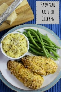 Parmesan Crusted Chicken - gluten free, moist and delicious baked chicken perfect for weeknight dinners