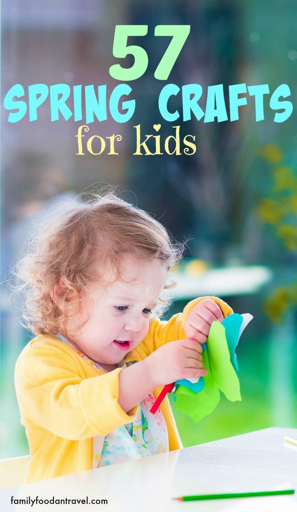Spring Craft for Kids of all ages - nature, animals, birds, flowers and Easter.