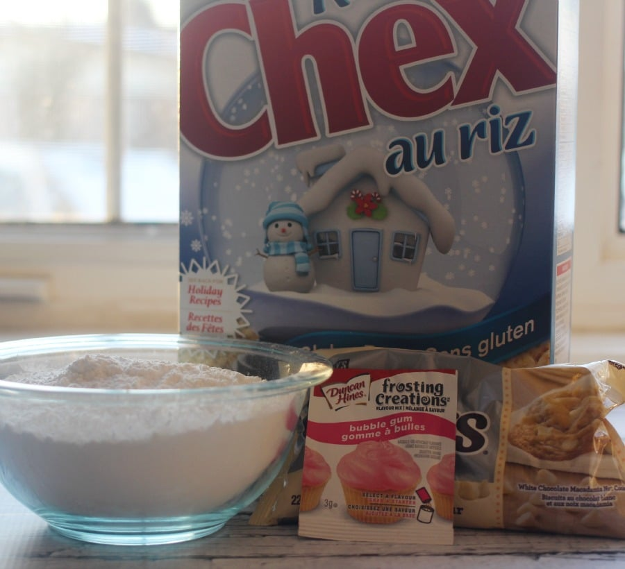 Bubble Gum Chex Mix ingredients