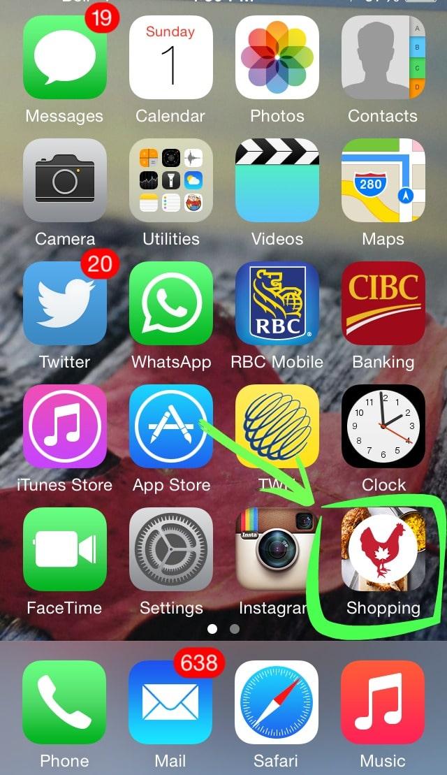 Chicken.ca Shopping App