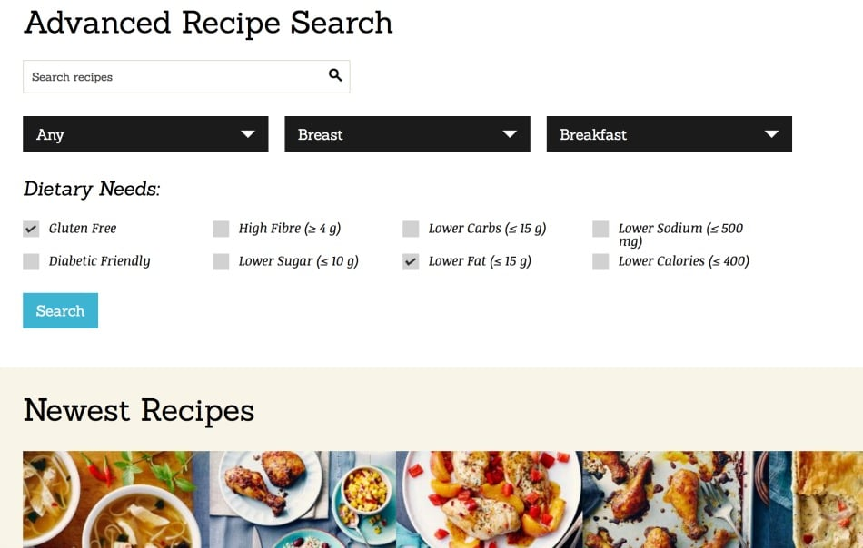 Advanced Recipe Search Chicken.ca