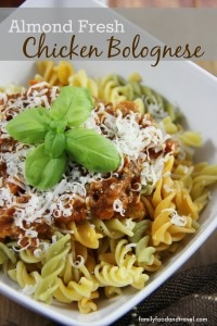 Almond Fresh Chicken Bolognese
