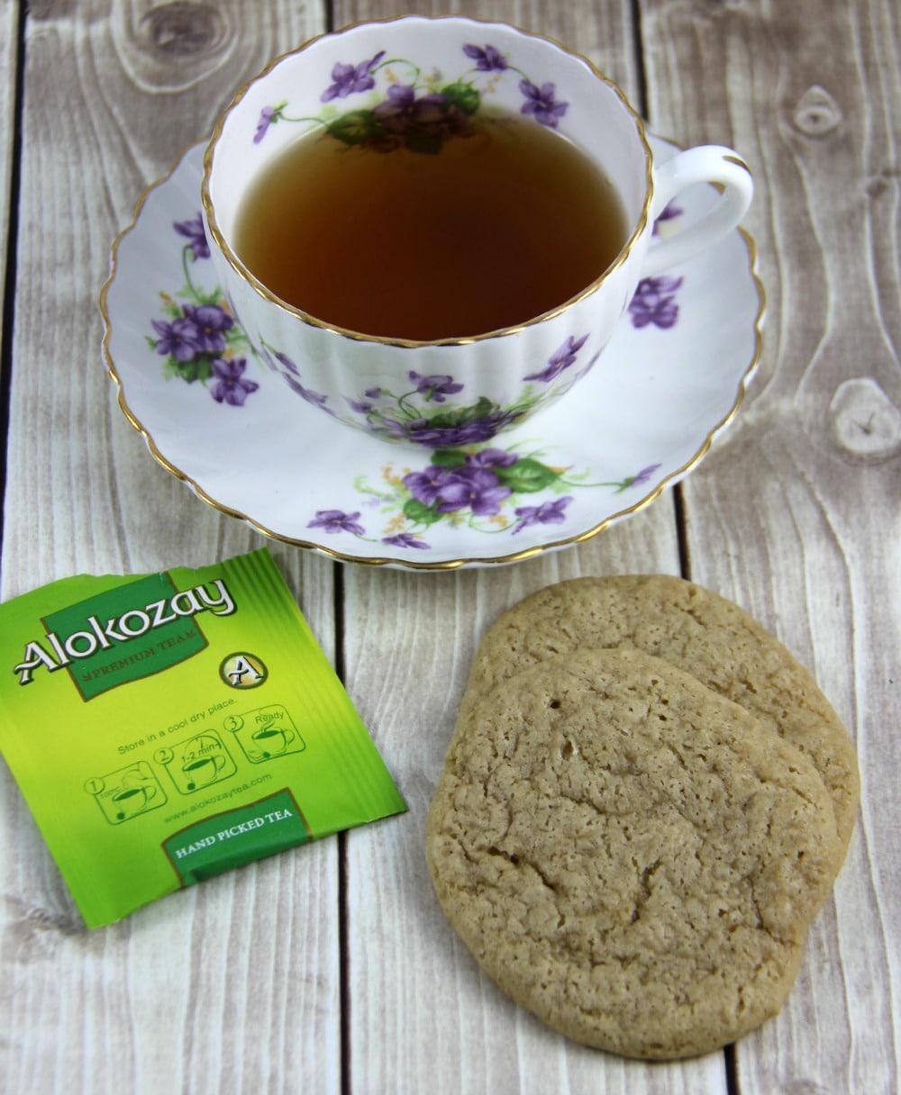 Butter Pecan Jasmine Tea Cookies