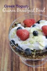 Greek Yogurt Quinoa Breakfast Bowl