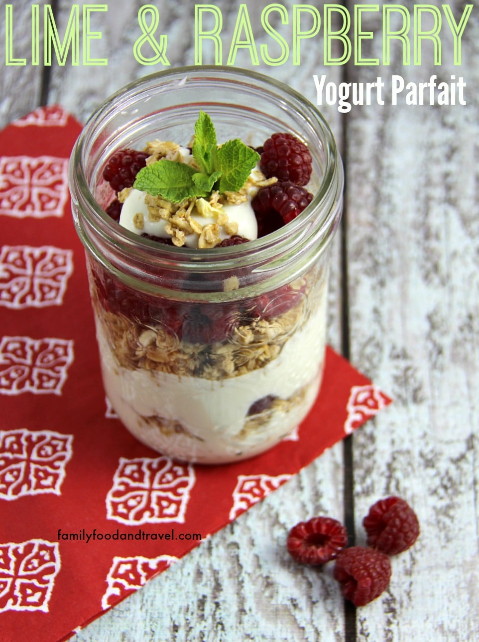 Lime and Raspberry Yogurt Parfait 2