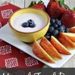 Yogurt Fruit Dip Recipe