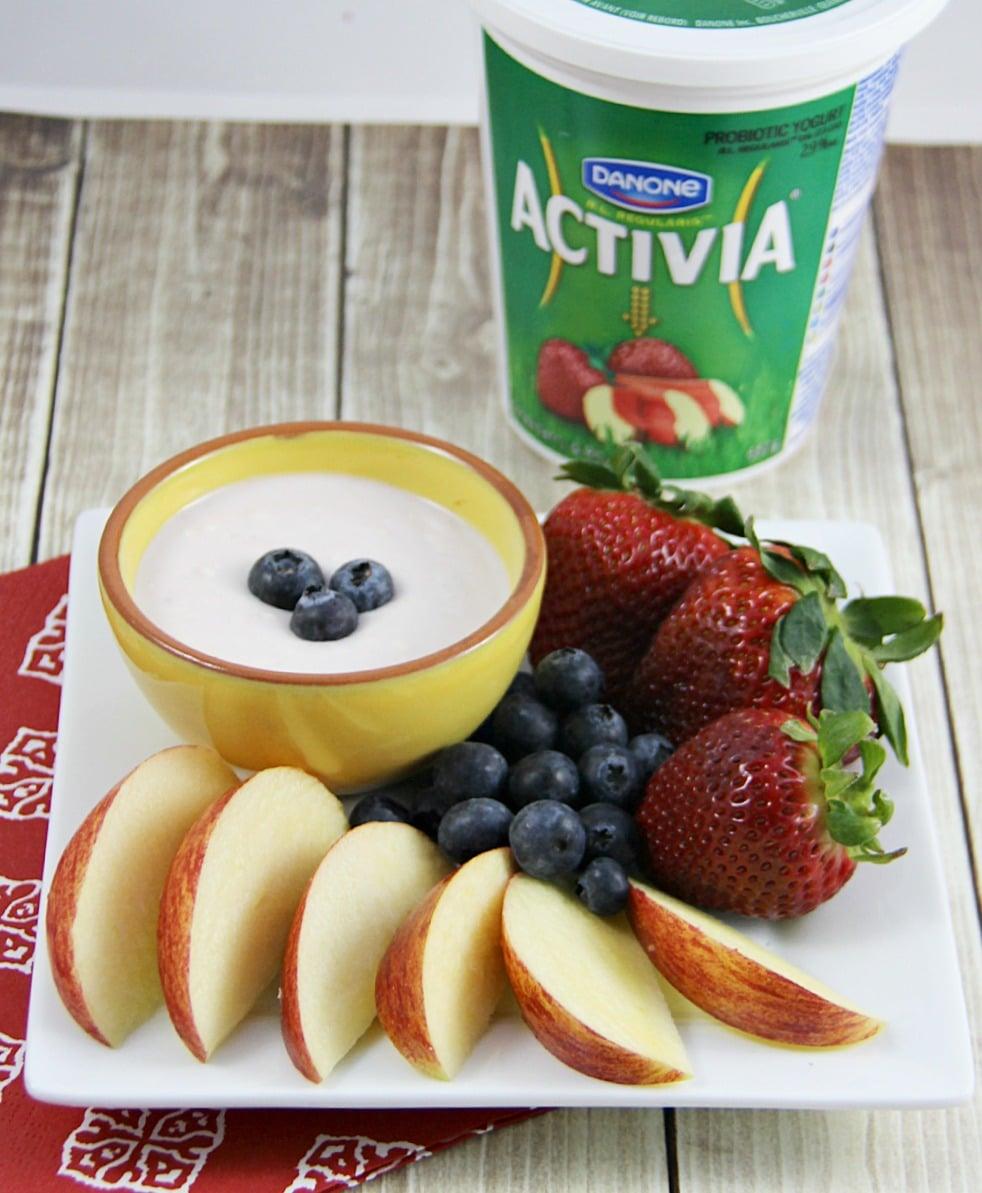 4 Ingredient Yogurt Fruit Dip Recipe #ActiviaChallenge ...
