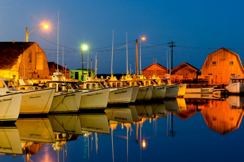 PEI Vacation Lobster Boats